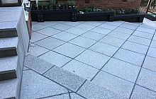 Terrazzo Stoneworks Honed Pavers stepped
