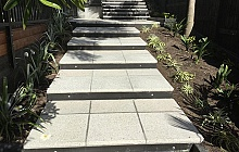 Terrazzo Stoneworks Honed Pavers outside stairs