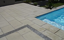 Stevenson's Veneto tiles around pool and steps (Epsom)
